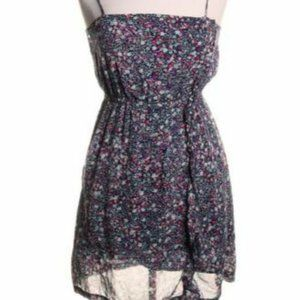 Billabong Juliet Blue Floral Print Mini Dress